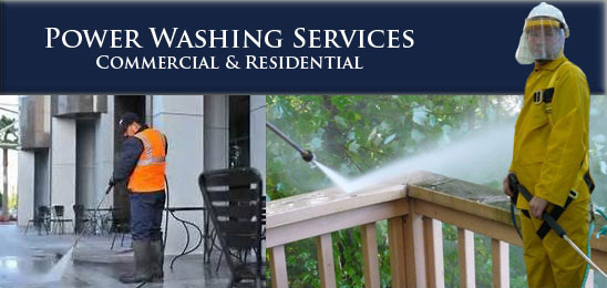 commercial and residential power washing services